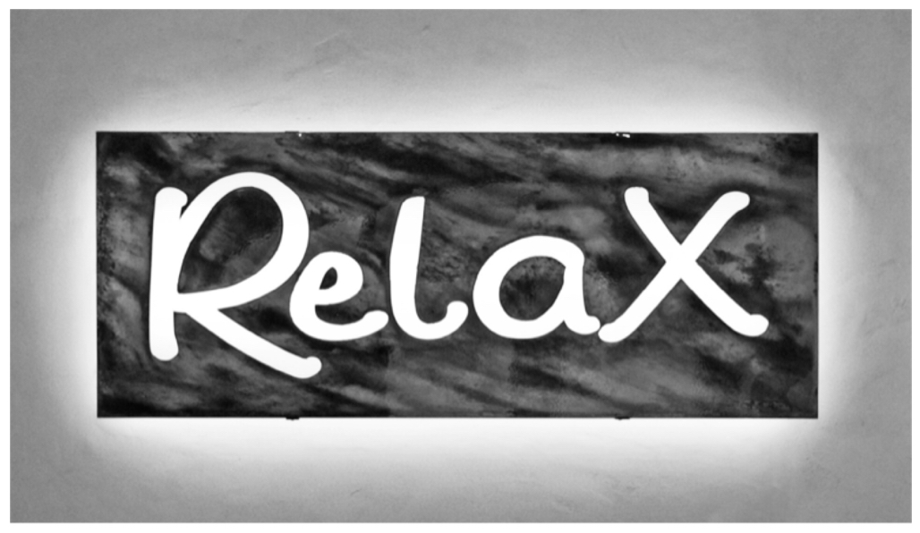 Relax Salon Sign 1